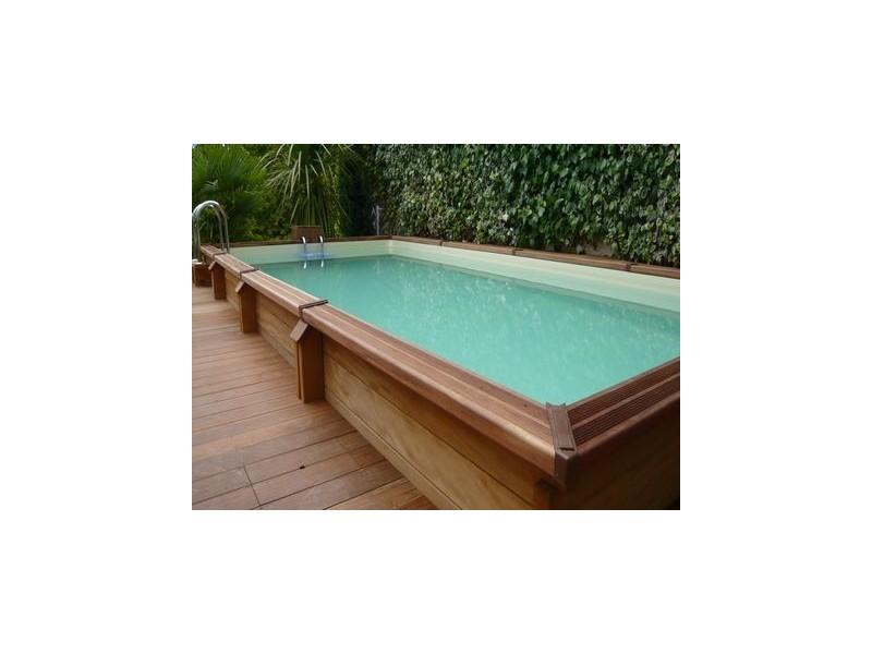 Kit piscine bois exotique oslo tekabois for Kit piscine bois