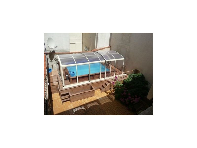 Kit piscine bois exotique barcelone tekabois for Kit piscine bois