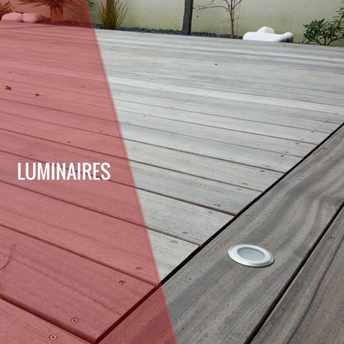 Luminaires, spots, éclairage pour terrasse en bois